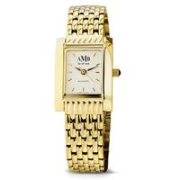 Women's Gold Quad Watch with Bracelet Image-1 Thumbnail