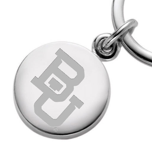 Baylor Sterling Silver Insignia Key Ring