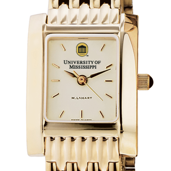 Ole Miss Women's Gold Quad Watch with Bracelet