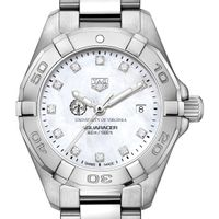 UVA Women's TAG Heuer Steel Aquaracer with MOP Diamond Dial