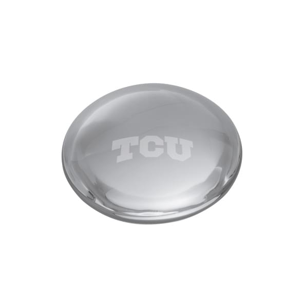 TCU Glass Dome Paperweight by Simon Pearce
