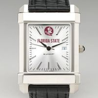 Florida State Men's Collegiate Watch with Leather Strap