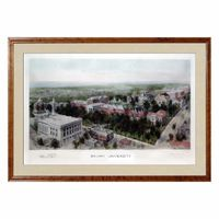Historic Brown University Watercolor Print