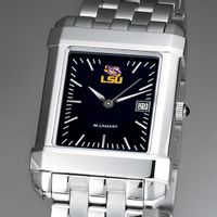 LSU Men's Black Quad Watch with Bracelet