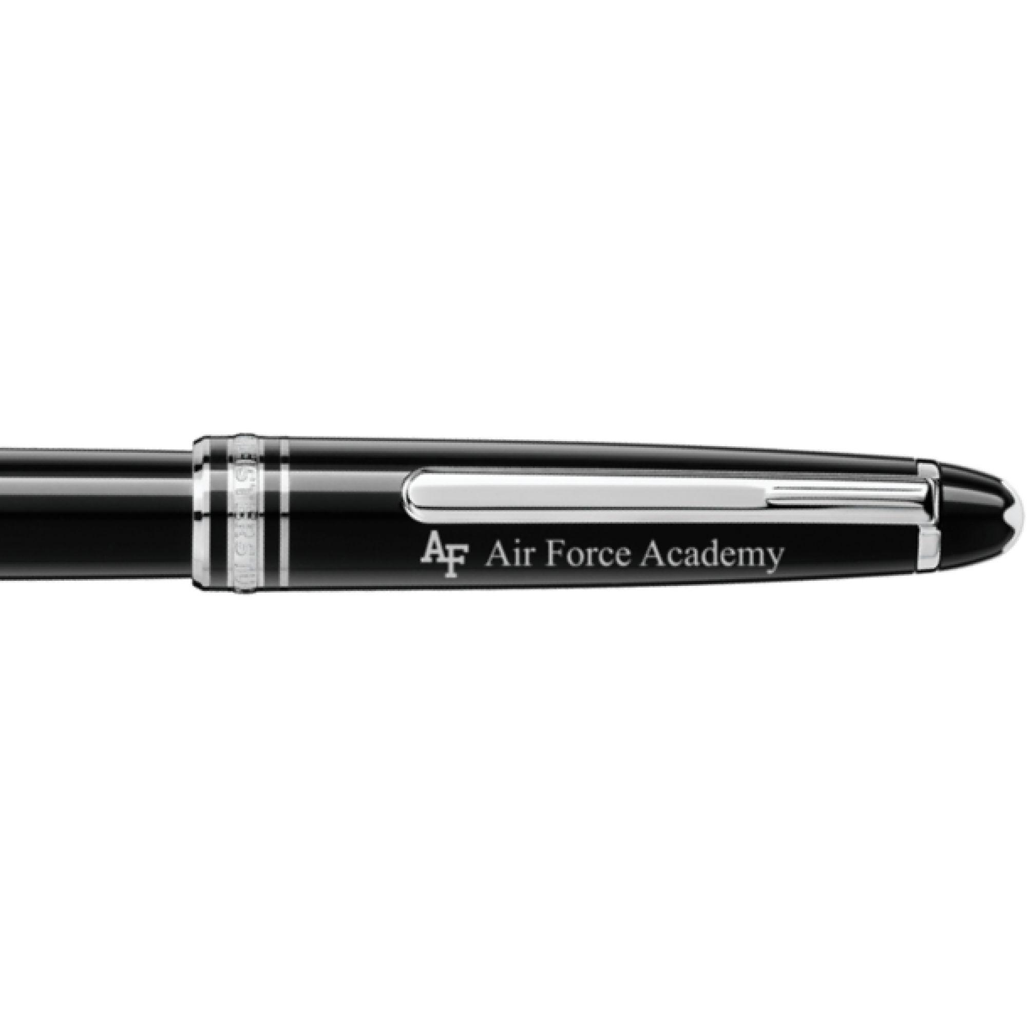 US Air Force Academy Montblanc Meisterstück Classique Rollerball Pen in Platinum