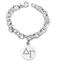 Delta Gamma Sterling Silver Charm Bracelet Image-1 Thumbnail