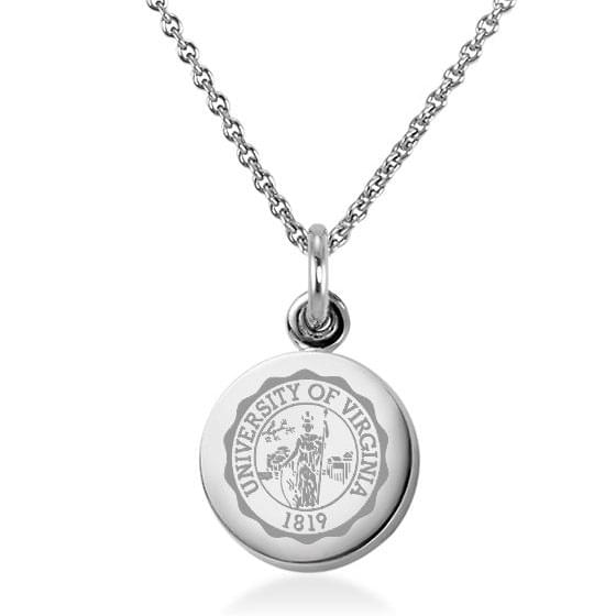 UVA Sterling Silver Necklace with Silver Charm