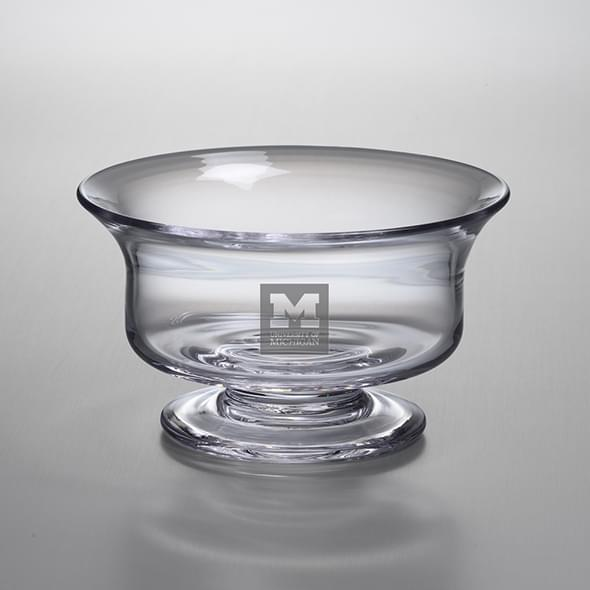 Michigan Medium Glass Presentation Bowl by Simon Pearce
