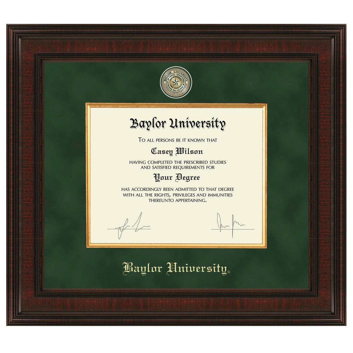 Baylor University Diploma Frame Excelsior Graduation Gift