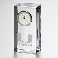Miami Tall Glass Desk Clock by Simon Pearce