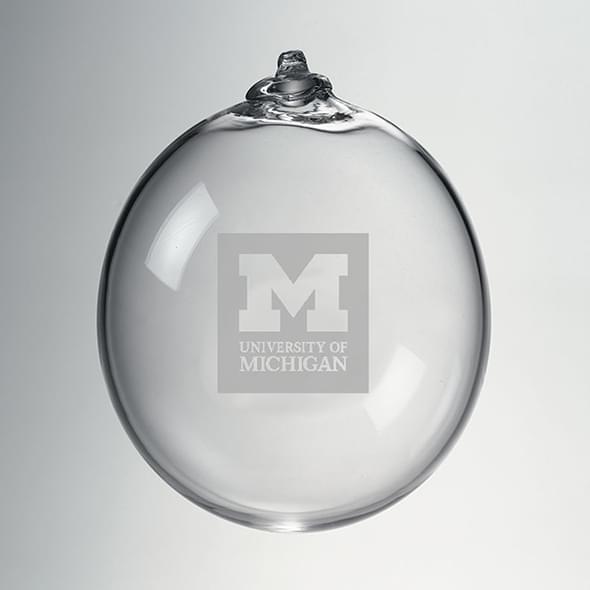 Michigan Glass Ornament by Simon Pearce