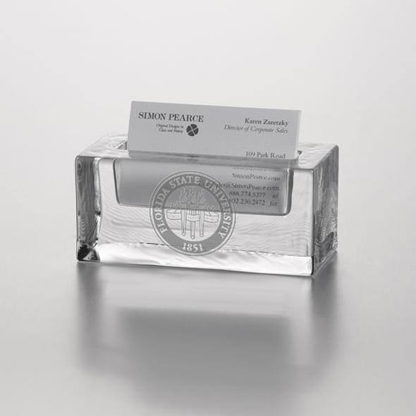 Florida State Glass Business Cardholder by Simon Pearce