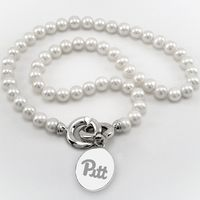 Pitt Pearl Necklace with Sterling Silver Charm