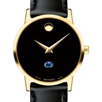 Penn State Women's Movado Gold Museum Classic Leather