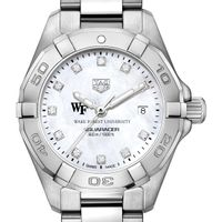 Wake Forest Women's TAG Heuer Steel Aquaracer with MOP Diamond Dial