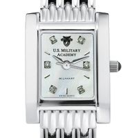 West Point Women's Mother of Pearl Quad Watch with Diamonds & Bracelet
