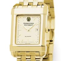 Georgetown Men's Gold Quad Watch with Bracelet