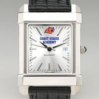Coast Guard Academy Men's Collegiate Watch with Leather Strap