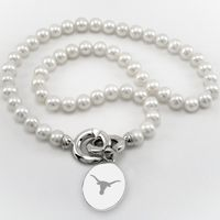 Texas Pearl Necklace with Sterling Silver Charm