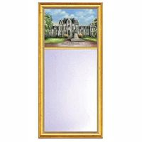 Penn Eglomise Mirror with Gold Frame