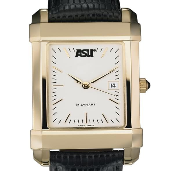 ASU Men's Gold Quad Watch with Leather Strap Image-1