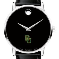 Baylor Men's Movado Museum with Leather Strap