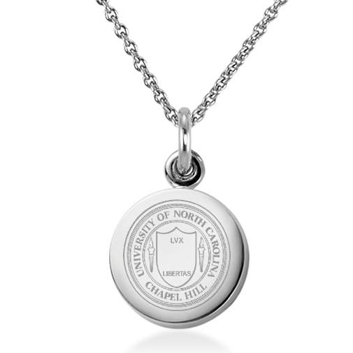 UNC Sterling Silver Necklace with Silver Charm