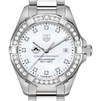 Columbia Women's TAG Heuer Steel Aquaracer with MOP Diamond Dial & Diamond Bezel