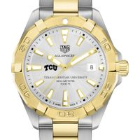 TCU Men's TAG Heuer Two-Tone Aquaracer