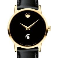 Michigan State Women's Movado Gold Museum Classic Leather