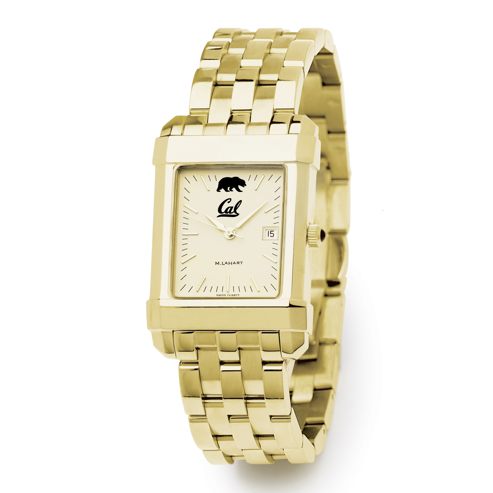 Berkeley Men's Gold Quad with Bracelet