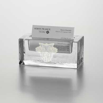 West Point Glass Business Cardholder by Simon Pearce