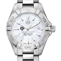 Texas A&M Women's TAG Heuer Steel Aquaracer with MOP Dial