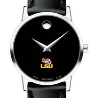 LSU Women's Movado Museum with Leather Strap