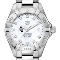 Oklahoma Women's TAG Heuer Steel Aquaracer with MOP Diamond Dial
