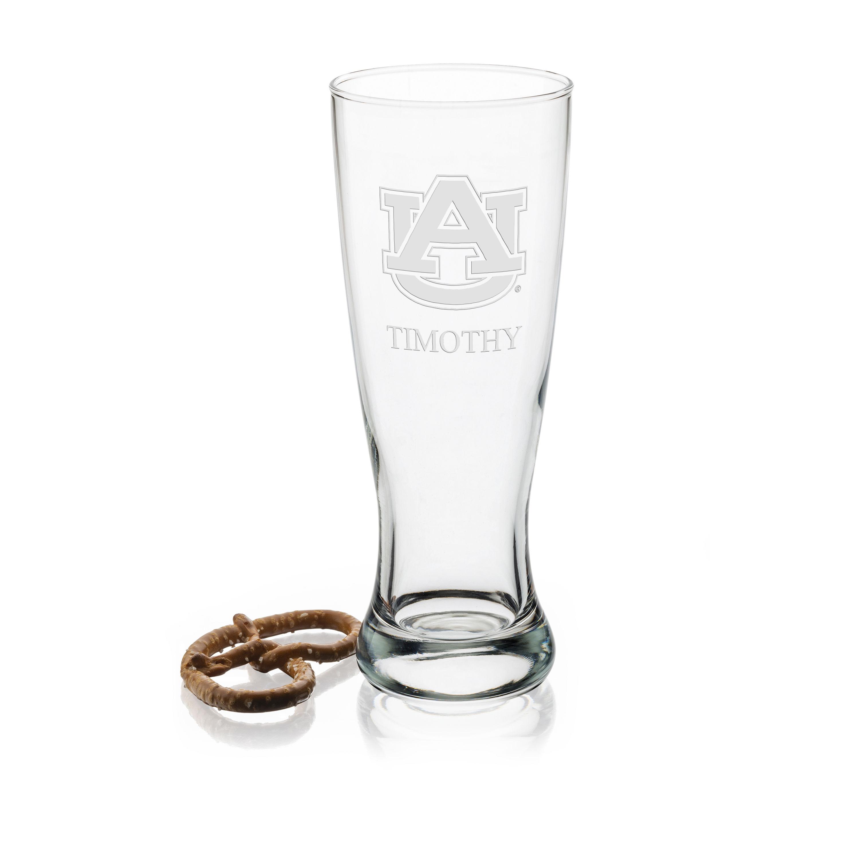 Auburn 20 OZ Glass Pilsner Set of 2