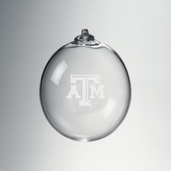 Texas A&M Glass Ornament by Simon Pearce