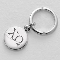 Chi Omega Sterling Silver Insignia Key Ring