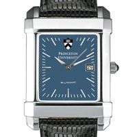 Princeton Men's Blue Quad Watch with Leather Strap