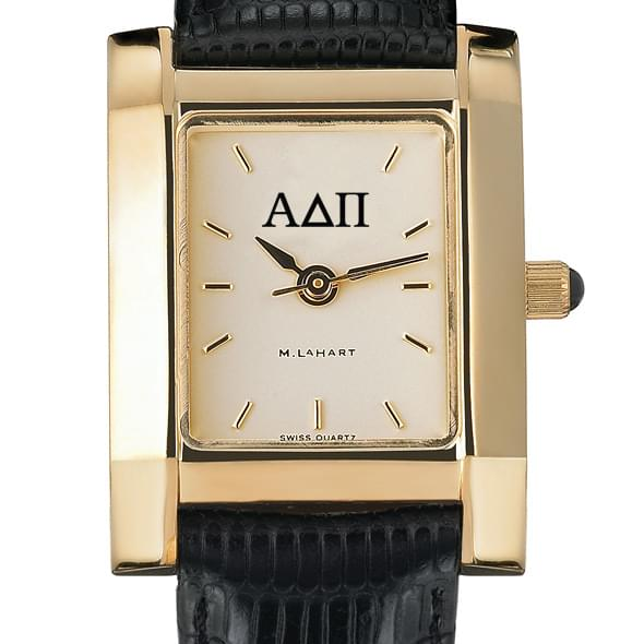 ADPi Women's Gold Quad Watch with Leather Strap