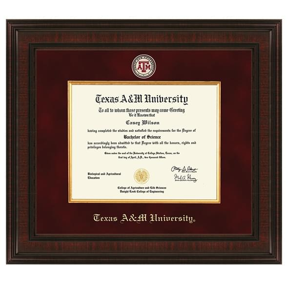 Texas A Amp M University Diploma Frame Excelsior