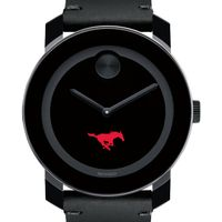 SMU Men's Movado BOLD with Leather Strap