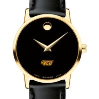 VCU Women's Movado Gold Museum Classic Leather