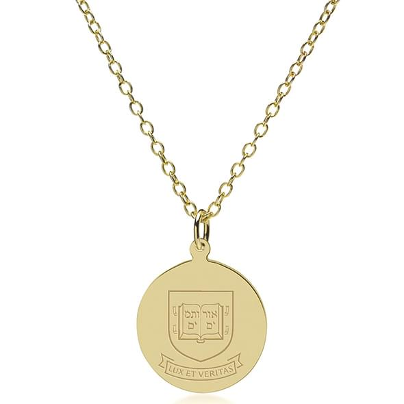 Yale 18k Gold Pendant Amp Chain At M Lahart Amp Co