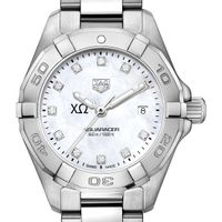 Chi Omega W's TAG Heuer Steel Aquaracer w MOP Dia Dial