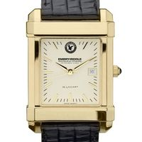 Embry-Riddle Men's Gold Quad with Leather Strap