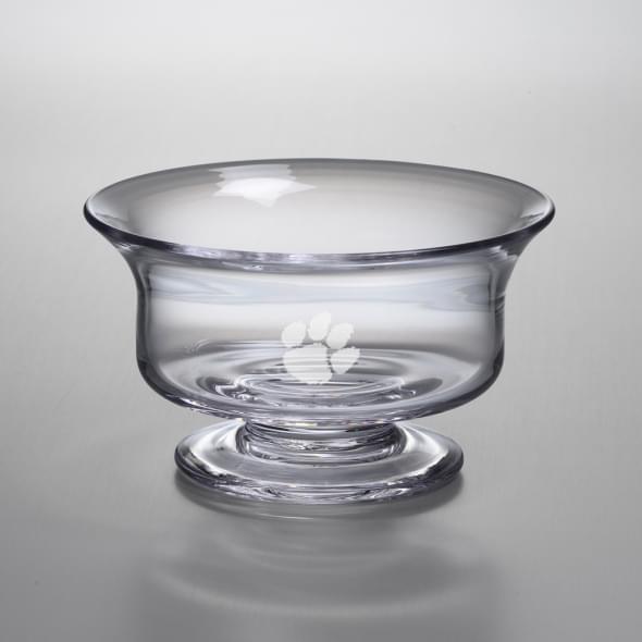 Clemson Medium Glass Presentation Bowl by Simon Pearce