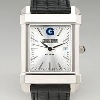 Georgetown Men's Collegiate Watch with Leather Strap