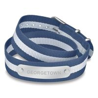 Georgetown University Double Wrap NATO ID Bracelet