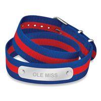 Ole Miss Double Wrap NATO ID Bracelet